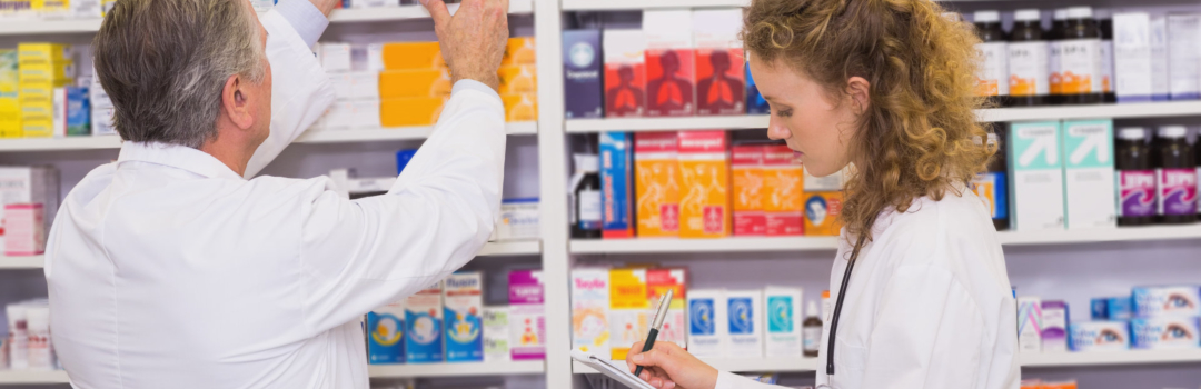 pharmacists checking supplies
