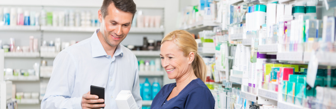 patient and pharmacist talking